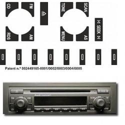Kit Restaurar Botões Rádio Concert Audi A3 /A4 /A6