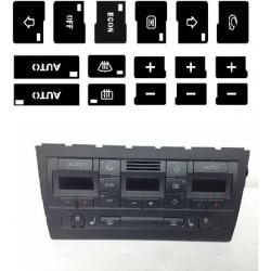 Kit Autocolante em Vinil p/ Reparação Climatronic Audi A4 B6,B7 [KC/A4 B6/B7]