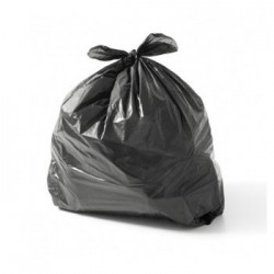 Sacos Lixo Plast 50Lts Preto 23my (60X80cm) (Pack 10)