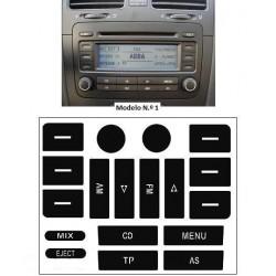 Kit Autocolante Vinil p/ Reparação Rádio VW Golf V / Passat B6 [KRVW. V]