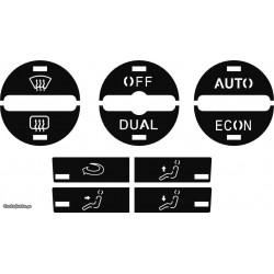 Kit Restaurar Botões Climatronic VW Golf V / Jetta / Passat B6 - Modelo Dual Zone