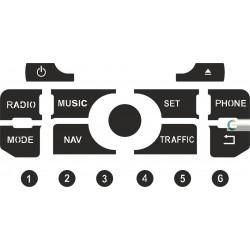 Kit Restaurar Botões Auto-Rádio GPS Peugeot 807