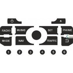 Kit Restaurar Botões Auto-Rádio Citroen C5