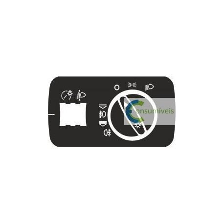 Kit Autocolante em Vinil p/ Reparação Comutador luzes A3 8L [KITCLAA3]