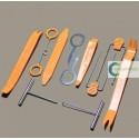 Ferramentas p/ desmontar auto radio, clips, molas de forras e plásticos tablier