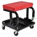 Cadeira de oficina para mecânico com 4 rodas e prateleira para ferramenta