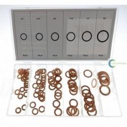 Conjunto 110 Juntas de cobre 6 Medidas 6MM 8MM 10MM 11MM 12MM 16MM
