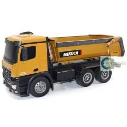 Camião basculante de metal completo Huina 1573 1:14 RTR