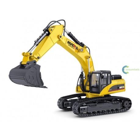 RC Escavadora Huina 580 Versão 4 Full Metal Controle Remoto (RTR)